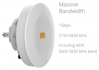 mimosa PTP System B5, 5GHz 25dBi antenna, 1Gbps aggregated IP