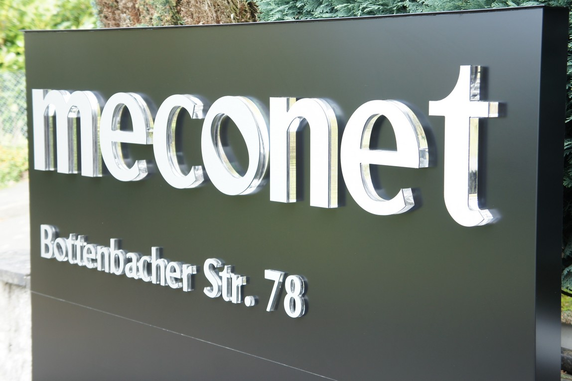 Advertising sign with letters and ot logo made of acrylic - meconet-Shop