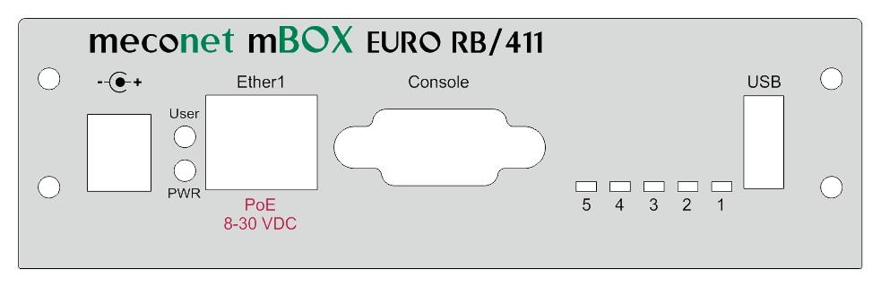 mBOX EURO Desktop - Frontpanel for MikroTik RB/411 - meconet-Shop