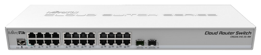 Mikrotik Cloud Router Switch Crs326 24g 2s Rm Layer2
