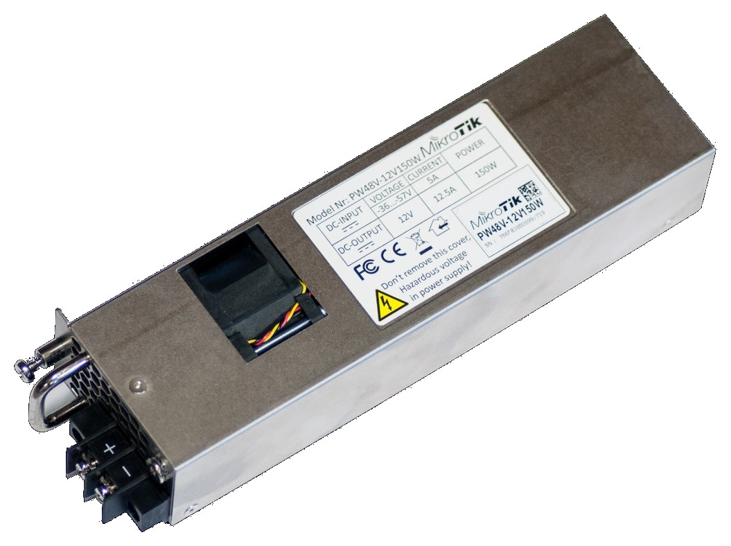 Hot Swap 12v 150W AC/DC power supplies for CCR1072-1G-8S+