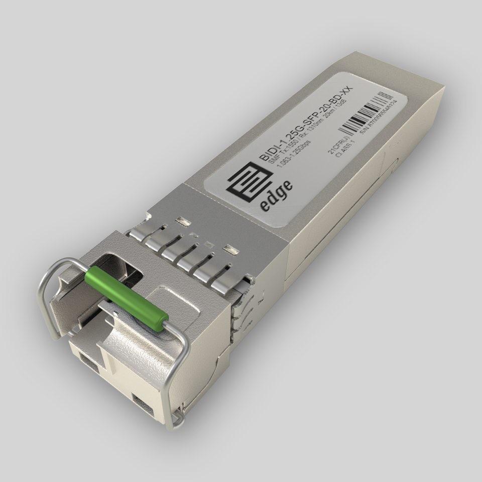 edge optical solution BIDI-1 25G-SFP-20-BD, Single LC SFP