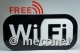 Advertising sign 'WiFi' 3D with exchangeable slogan at the top